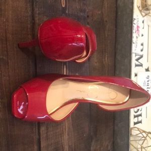Red Jessica Simpson Pumps